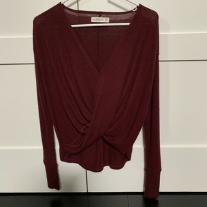 Abercrombie & Fitch Burgundy Wrap Sweater